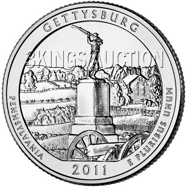 2011 Silver 5oz. Gettysburg ATB