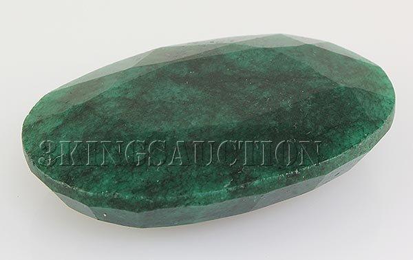 Emerald 129.90ctw Loose Gemstone 46x31x12mm Oval Cut