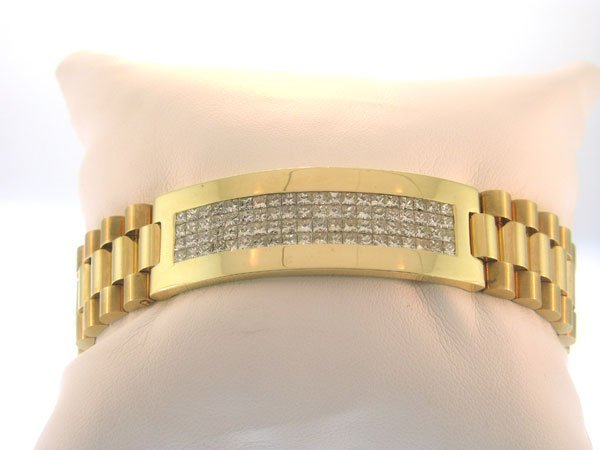 Rolex Diamond Princess Cut Bracelet 7.10 cts 14kt YG