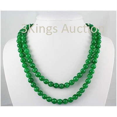765.00ctw Natural Jade Round Handmade Necklace