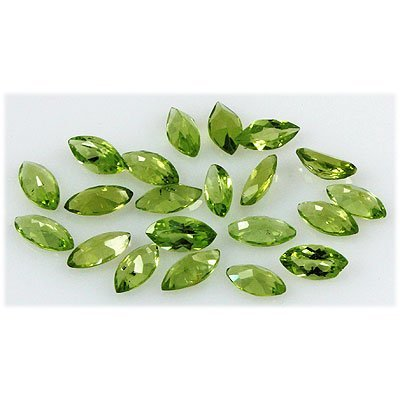 Peridot 11.79 ctw Loose Gemstone 4x8mm Marquise Cut