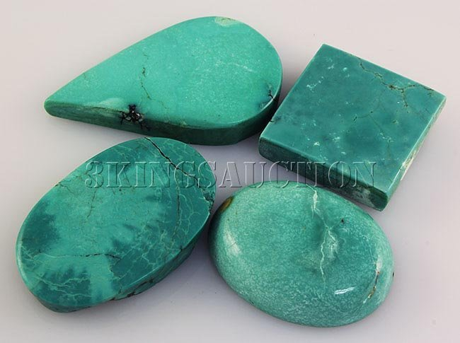 Natural Turquoise 194.61ctw Loose Gemstone Lot of 4