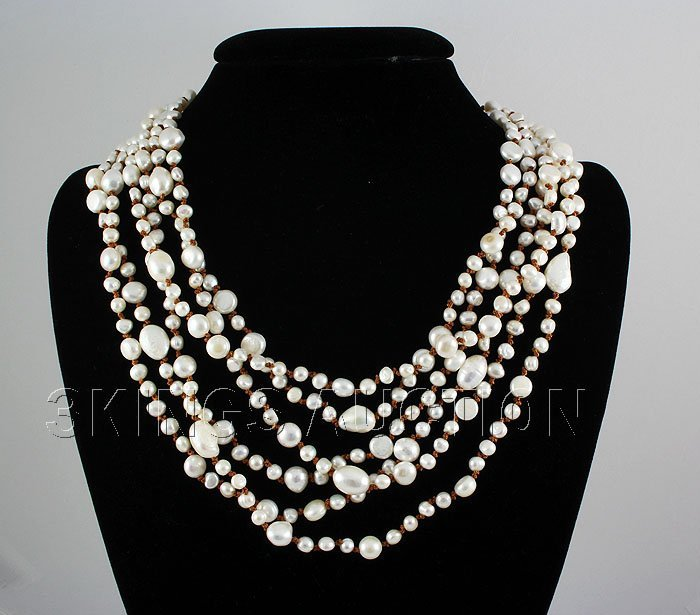 674.50CTW 20in. ELEGANT WHITE SIOPAO PEARL NECKLACE