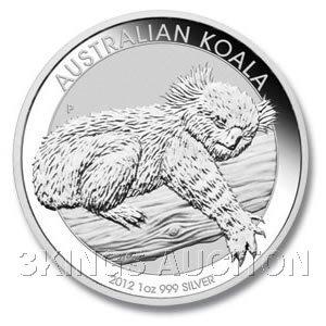 Australian Koala 1 Ounce Silver 2012