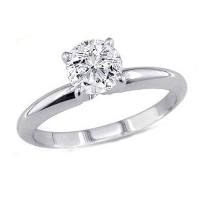 0.25 ct Round cut Diamond Solitaire Ring, G-H, VS