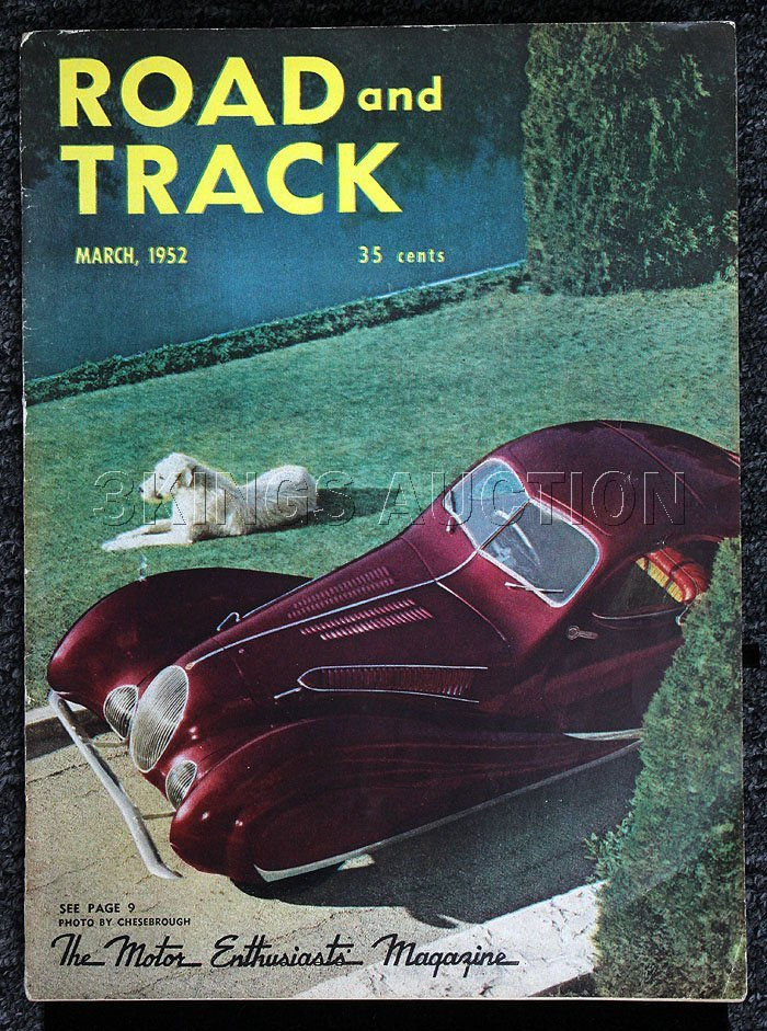 Road & Track (March 1952) Great Condition