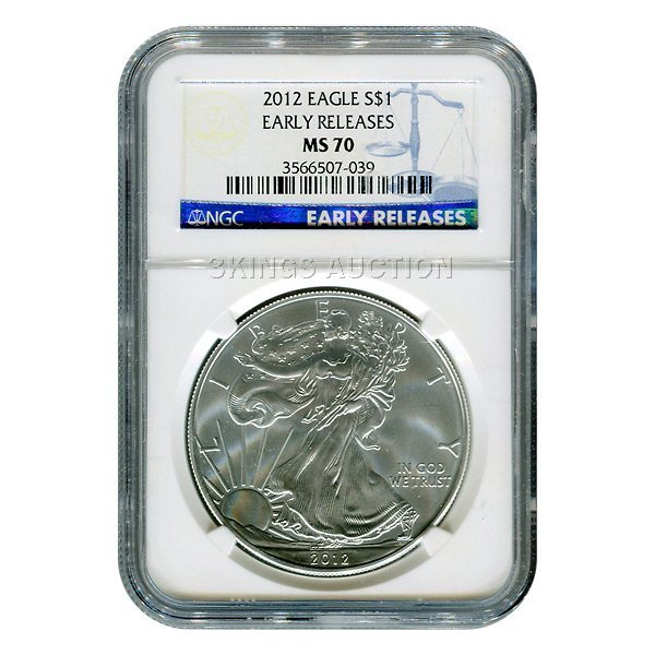 Certified Uncirculated Silver Eagle 2012 M70 NGC Early
