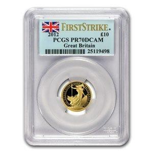 2012 1/10 oz Proof Gold Britannia PR-70 DCAM PCGS (FS)