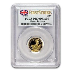 2012 1/4 oz Proof Gold Britannia PR-70 DCAM PCGS (FS)
