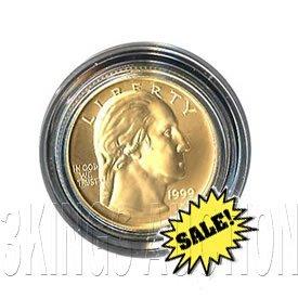 Gold $5 Commemorative 1999 George Washington BU