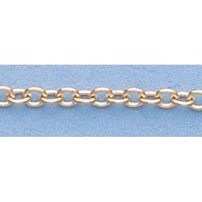 """Pure Gold 16"""" 14k Gold-Yellow 1.1mm D/C Circle Chain"""