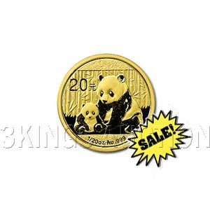 Chinese Gold Panda 20th Ounce 2012