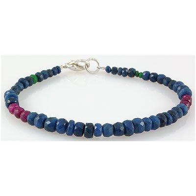 49.25ct Single Faceted Multi-Color Beads Bracelet