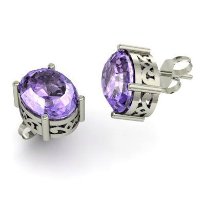 1102713248: Tanzanite 5.00ctw Earring 14kt White Gold