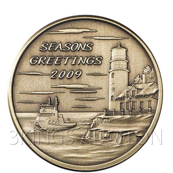 Christmas 2009 Bronze Round X-15 Season's Greetings (wi
