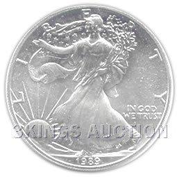 Uncirculated Silver Eagle 1989