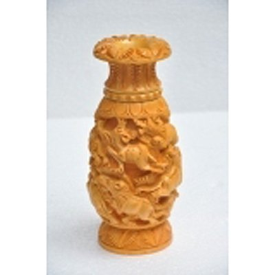 Haldu Wood Flower Vase size 8in.x4in.