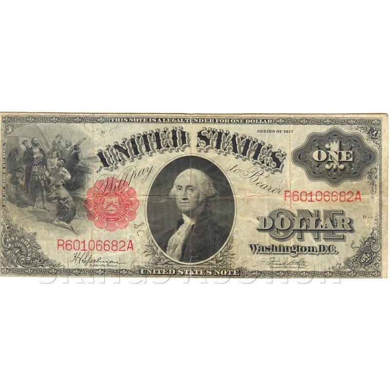 $1 1917 Legal Tender Note, G-VG