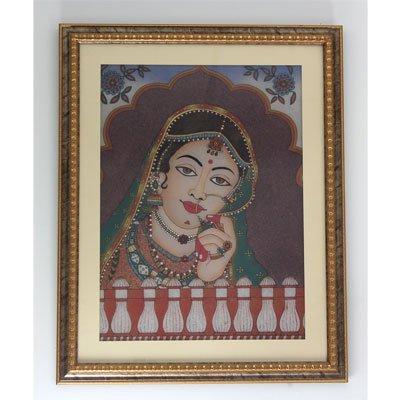 "24 1/2"" x 30 1/2"" Indian Princess Gemstone Painting"