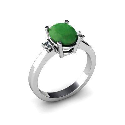 Emerald 1.90 ctw Diamond Ring 14kt White Gold