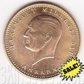 Turkey 100 kurush gold, bullion issue