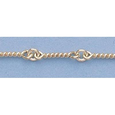"Pure Gold 16"" 14k Gold-Yellow 3.0mm Dog Bone Chain"