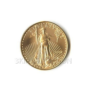 One-Tenth Ounce 2003 US American Gold Eagle Uncirculate