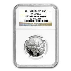 2011 1/2 oz Silver Britannia PF-70 UCAM NGC