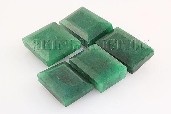 175.07ctw Faceted Loose Emerald Beryl Gemstone Lot of 5