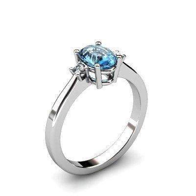 Topaz 0.57 ctw Diamond Ring 14kt White Gold