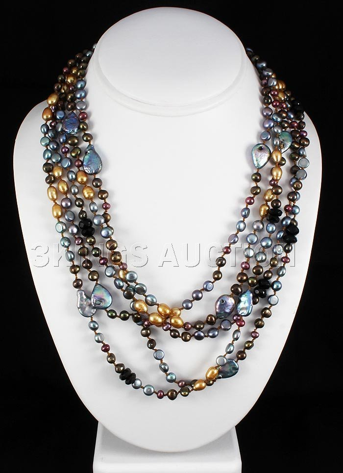 480.00CTW Multi Color Freshwater Pearl Necklace