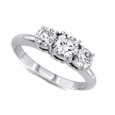 2.00 ctw Round cut Three Stone Diamond Ring, G-H, SI2
