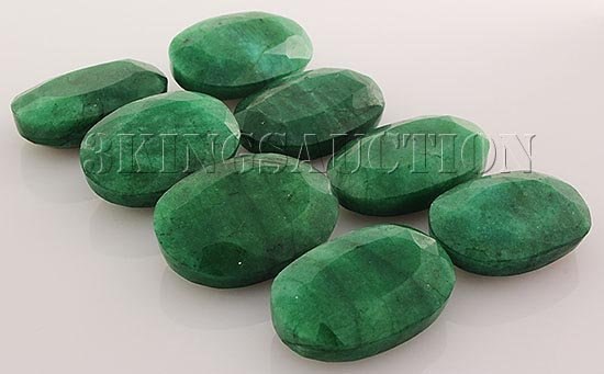298.63ctw Faceted Loose Emerald Beryl Gemstone Lot of 8