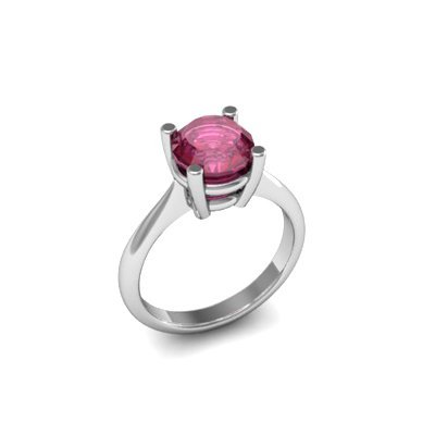 Ruby 1.60ctw Ring 14kt White Gold
