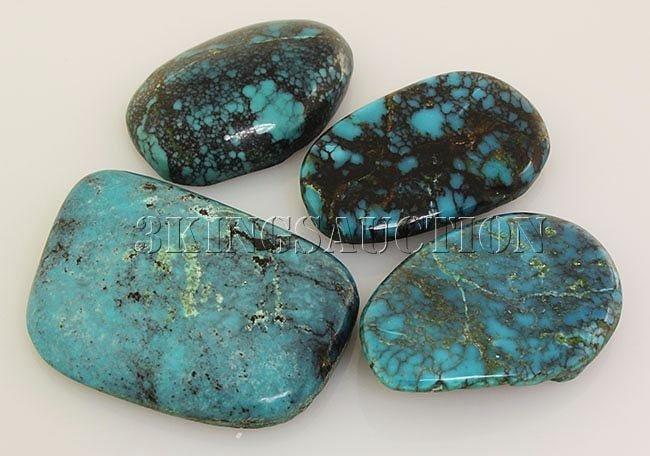 Natural Turquoise 224.05ctw Loose Gemstone 3pc Big Size