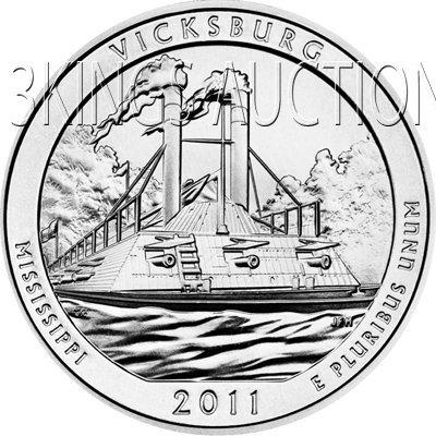 2011 Silver 5oz. Vicksburg ATB