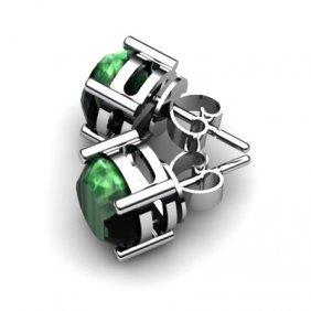 Emerald 5.00ctw Earring 14kt White Gold