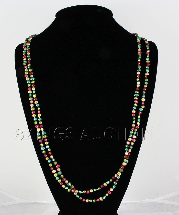 238.00CTW 31in. MULTI-COLOR LONG STRAND PEARL NECKLACE