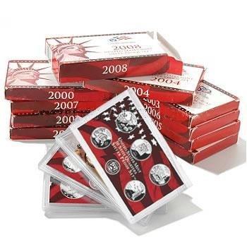 Complete Set US Proof Sets 1999-2011 Silver (13 sets)