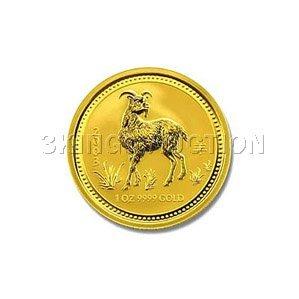 Australian Lunar Gold Quarter Ounce Gold 2003 Goat