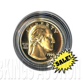 Gold $5 Commemorative 1999 George Washington Proof