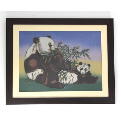"30 1/2"" x 24 1/2"" Mother & Babby Panda Gemstone Paintin"