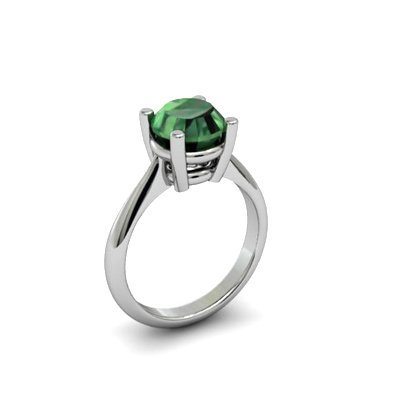 Emerald 1.70ctw Ring 14kt White Gold