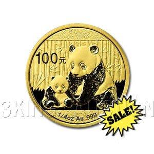 Chinese Gold Panda Quarter Ounce 2012