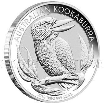 Australian Kookaburra Kilo Silver 2012