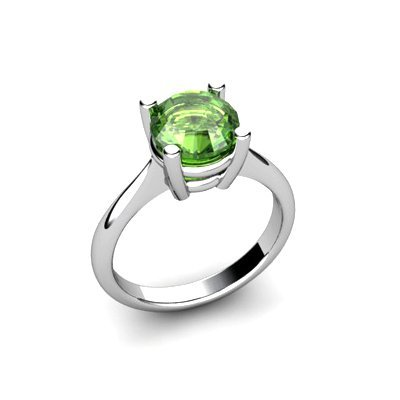 Tourmaline 2.00ctw Ring 14kt White Gold