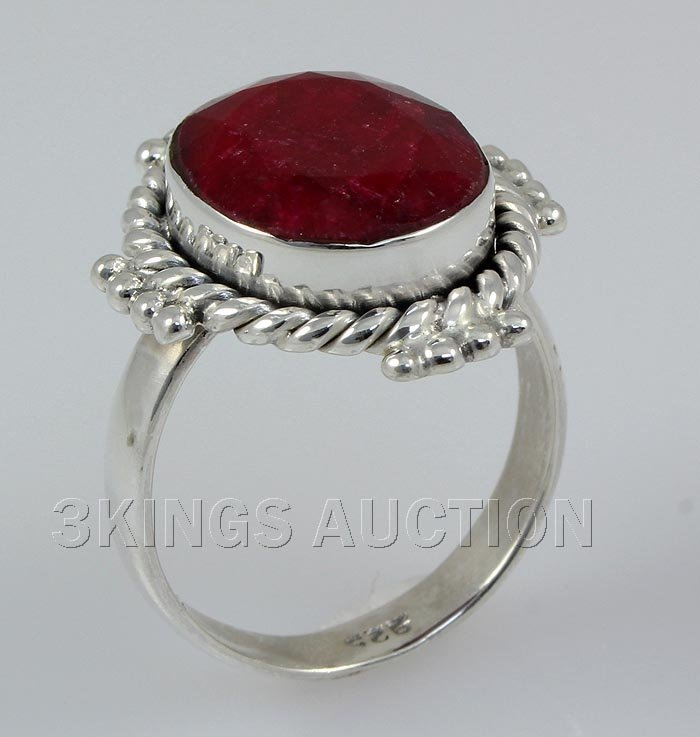 RUBY CORRUNDUM 26.33CTW STERLING SILVER RING