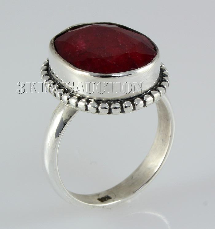 RUBY CORRUNDUM 29.70CTW STERLING SILVER RING