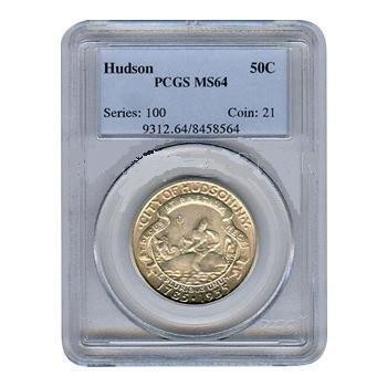 Certified Commemorative Half Dollar Hudson MS64 PCGS