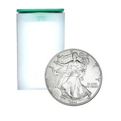 Uncirculated Silver American Eagle Roll (20 Coins) 2011
